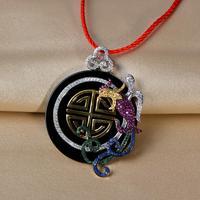 Very Thai black onyx pendant 925 silver pendant symbolizes noble fashion legend Fenghuang