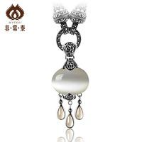 Very Thai 925 Intime silver opal pendant necklace pendant fashion Korean children