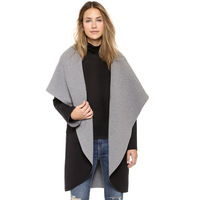 FREE SHIPPING 2014 new Autumn winter Oversized lapel hooded Pinfeng sided unedged boards trench coat for women XS-XXL