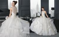 Free Shipping Custom Made  New Design straps ruffles  Wedding Gowns Wedding Dress