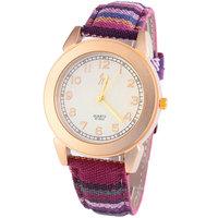 5 colors New Arrival Fashion Casual  Bohemia Fabric Belt Quartz Watch High Quality Women Dress Watch