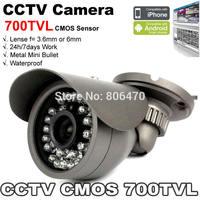 CCTV 700TVL IR Day and Night Security Weatherproof Surveillance Outdoor CCTV Camera with Axis Bracket CMOS sensor