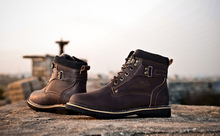 2014 NEW Winter Men Boots Martin Plus Velvet Boots Warm Cotton Casual Wear high top Boots