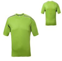 Free shipping 2014 famous brand men's round neck short sleeve t-shirt men sports quick dry t-shirt men outdoor green tees