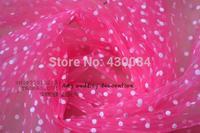 Black and white polka dot little flocking gauze cloth dots veil veil headdress skirt wave DIY
