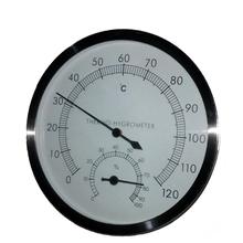 accessori camera sauna cassa in acciaio igrometro termometro(China (Mainland))