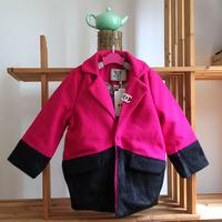 wholesale(5pcs/lot)-child girl lrs-023 winter rose and black poclst coat