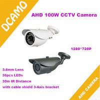 Hot selling!1.0Megapixel HD Analog High Definition Waterproof Camera 720P AHD Camera with 36pcs IR LEDs 30m IR Distance