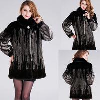 Faux fur coats Thick Wide-waisted imitation mink fur coat whole mink cashmere long section of  Girls XL XXL 3XL 4XL 5XL / W712