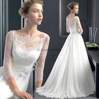 Cii Wedding Luxury French lace long sleeved bridal wedding dress for bride 2014 winter new wedding gown