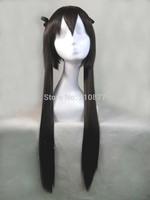 High Quality Hot Sale New 80cm Long Straight Dark Brown Nakano Azusa Anime Cosplay Wig