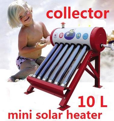 mini solar water heater solar vacuum tube system 10 liters placa solar 18 evacuated tube solar collector(China (Mainland))