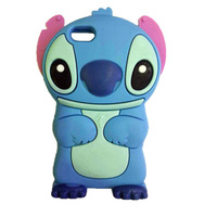 10PC Cute Cartoon Stitch Movable Ear Soft Rubber Case Cover For Apple iPhone 6 case 4.7 Inch
