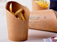 16 oz one-time fries paper cup cake cups bevel snacks barbecue chicken box 100 wholesale only