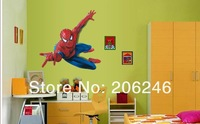 Hot Sale 2014 Large Spider Man Wall Decals Removable Stickers DIY Home Decor Art Kids Nursery Free Shipping