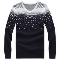 Free shipping plus size XXL XXXL 4xl 5xl 6xl 7xl 8xl autumn winter cotton brand V-neck snow inside sweater shirt tshirt mens