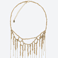 A3308 NEW arrive 2014 Z design Unique costume chunky collar necklace metal necklace for women jewelry wholesale price