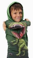 New arriving 3D image 100% cotton Hoody COOL Dinosaur sweatshirt for little boy 5 sizes, E04