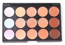 Profesionales 15 colores Corrector Contorno Fundación Crema Facial Paleta de maquillaje Salon / Partido / de la boda / Casual(China (Mainland))