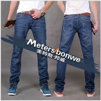 Free shipping The new men's 2014 meters/bonwe men straight Smith barney leisure men's jeans, trousers Size  28-40