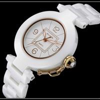 WELASIDN 2015 new quartz watch women High grade diamond ceramic luxury watch Shockproof antimagnetic women's dress watch