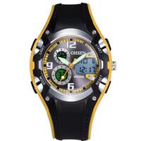 Ohsen Brand Fashion Original Digital Sports Watches Wristwatch Childrens Boys 30M Waterproof Rubber White Watches For Kids