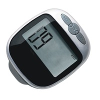 HMG Multi-function Step Pedometer Large LCD Display Pedometer Walking Calorie Distance Counter (Black)