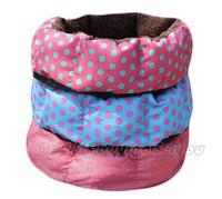 Small Cute Warm Soft Pet Dog Puppy Cat Polka Dot Bed House Nest Mat Pad Random Color P-0001