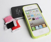 10Pcs/lot,Hot Selling DIY Cross Stitch Silicone TPU Case For iPhone 4 4S 5 5S supreme DIY case With Retail Box,Free Shipping