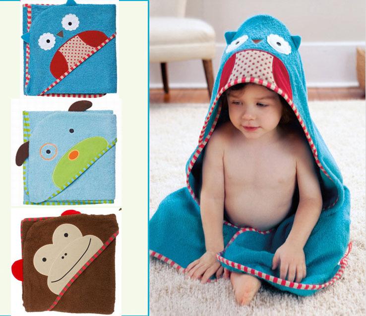 Kids Hooded Beach Towel Albornoces Baby Hooded Bath