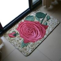 3 Size Soft Slip-resistant Door Mats 2014 New Arrival Flower/Cobblestone Design Living Room Mats SMDD0009