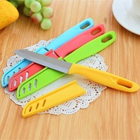 Free Shipping Candy Colors Fruit Knife Stainless Steel Kitchen Knife Portable knife Wholesale