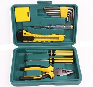 Insurance gift Kit 12 household tool set hardware combination tool repair car emergency kit