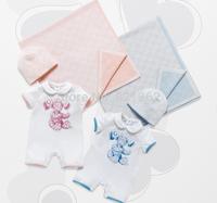 2014 New Autumn Summer Baby Kids Boy and Girl Short Sleeve Cotton Romper Hat 2Pcs/Set Baby Clothing 6-24M New Born Brand Design