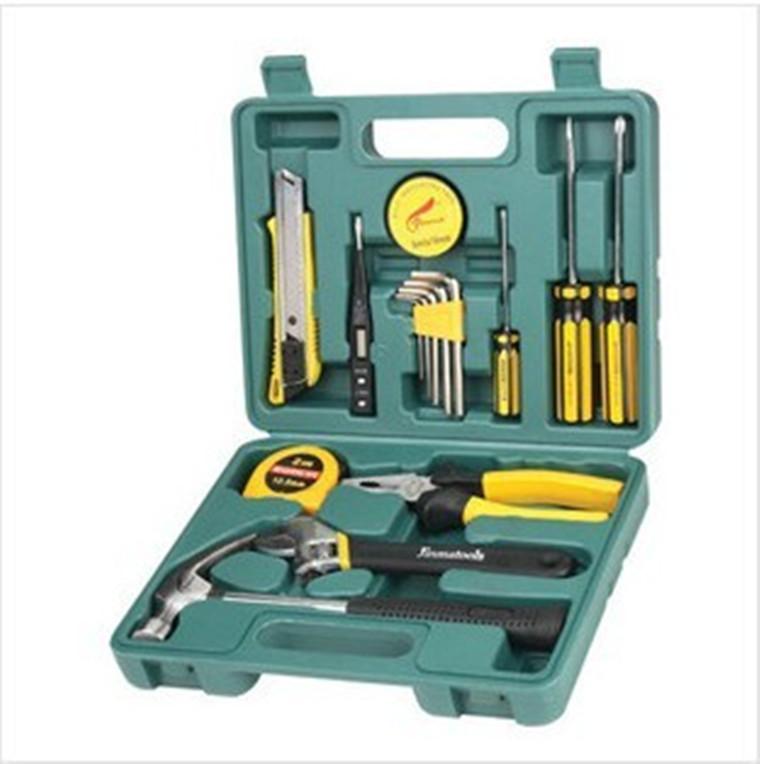 16 Piece Set toolbox bank insurance car gift tool set car dual purpose combined tool box
