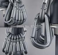 8cm d- em forma aluminio mate liberacao rupida da liga fivela com pequenas caminhadas.caminhadas bloqueio do gancho mosquetao