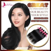 "New Arrival 5 Bundles/lot Peruvian Silky Straight  Weave Beauty Virgin Human Hair Extension Helen 60g/pc Natural#1b 8-28""  Hair"
