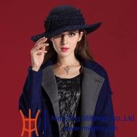 Autumn and Winter Women Hats 2014 Noble Fashion Dress Wool Felt Hat Natural 100% Wool High Fashion Hat Women Girl Gift
