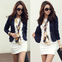 Women Blazer Casual Long Sleeves 5 Colors 2014 New Fashion Design Suit Office Lady Blazer Slim Korea Young Girl Cloth TZC021