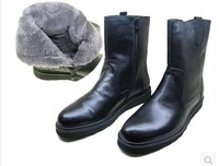 45 44 43 42 38 39 Men Winter Boots Boys Genuine Leather Boots Warm Real Wool Natural Fur Non-Slip Hard-Wearing Snow Boots 12 11