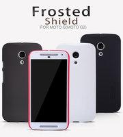 Genuine Nillkin Frosted Hard Case Cover For Motorola Moto G 2nd Gen G2 2014 XT1063 XT1068 Slim Matte Shield + Screen Protector
