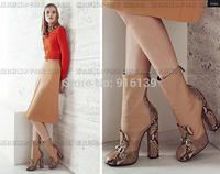 Luxury Brand Women Snakeskin Leather Booties Fashion Autumn Ankle Boots Size 43 Flats Women Winter Knight Martin Boots
