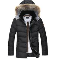 2014 free shipping Highest quality !Men 's down jackets  winter new fashion fur collar coats,overcoat,outwear, L-XXXL 245