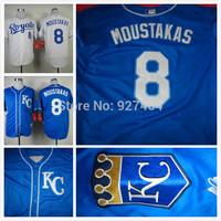cheap stitched 2014 Kansas City Royals 8 Mike Moustakas  cool base men's baseball jersey/ shirt