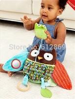 New 2014 Baby Toys Plush Toys Kids Multifunctional Learning & Education Dolls Kawaii Owl Design Stuffed Animals Free Shipping