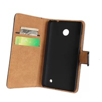 Stand Wallet Leather case For Nokia Lumia 630 With card holder 1pcs Free Shipping