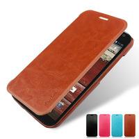 Flip Leather Case Cover for Motorola Moto G 2nd Gen G2 2014 XT1063 XT1069 Slim Case Luxury Business Style + Screen Protector