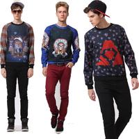 Winter street Tracksuit Tops Funny Leopard Lions galaxy 3D Print Hoodie hip hop cartoon Sweatshirt Fashion Sportswear Sweaters