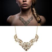 Beadwork Jewelry Bridesmaid Bib Choker Necklace Maxi Colares Femininos Vintage Necklace For Women