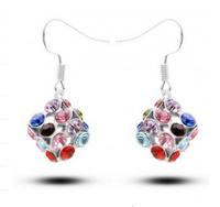 New Austria Crystal Love Rubik Cube Earrings Crystal Square Earrings Crystal Jewelry For Wedding for women